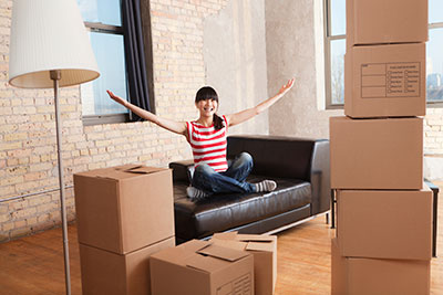 image of first time texas renter in her apartment